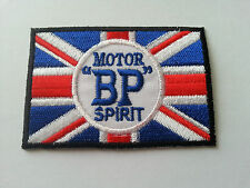 MOTOR RACING RALLY SPORT FUELS OILS SEW / IRON ON PATCH:- BP MOTOR SPIRIT FLAG