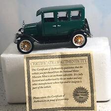 NATIONAL MOTOR MUSEUM MINT diecast model car 1926 ford fordor 4 door green four