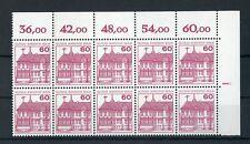 Berlino n. 611a ** eckrand - 10er-BLOCCO SERIE contatore-Rand barra (113822)