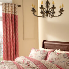 Catherine Lansfield Kashmir Eyelet Lined Curtains, Multi, 66 x 72 Inch