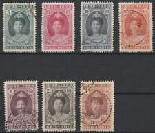 Nederlands-Indië gestempeld 1923 used 160-166 - Jubileum Koningin Wilhelmina
