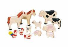 12 Holztiere Tiere aus Holz Bauernhoftiere