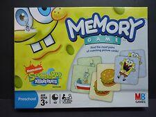 Nickelodeon Spongebob Squarepants Edition Memory Game Hasbro 2008 Preschool Nick