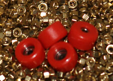 Original Wooden Fingerboard Bearing Wheels - Red