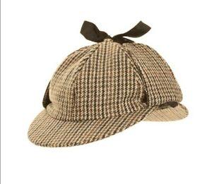 Hawkins Deerstalker Hat Tweed Sherlock Holmes