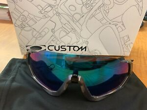 Custom Oakley Flight Jacket Prismatic Sunglasses