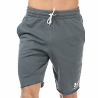 Mens Under Armour Sportstyle Terry Shorts In Grey