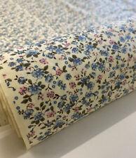 Eliza floral cream printed 100% cotton poplin fabric crafts dress shirt quilting