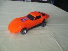 "1980 Buddy L  Orange Corvette 8"" Plastic Toy Car"