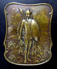 Art Deco by Brangier ca.1910: A Celtic Chief / Bronze Medal 48 mm x 60 mm / M.93
