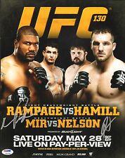 Frank Mir Quinton Rampage Jackson Roy Nelson Signed UFC 130 11x14 Photo PSA/DNA