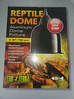 "Exo Terra Reptile Dome 6"" inch /15cm EXTRA DEEP Aluminum Fixture Light Heat Lamp"