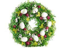 Couronne de Pâques décorative avec oeufs et fruits rouges, Ø 34cm - Britesta