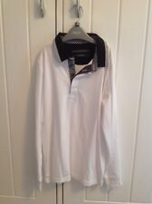 Worn Once Boys NEXT White Cotton Top With Black Detail Shirt Collar Age 9