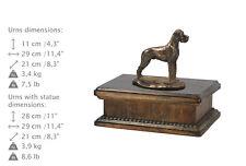 Deutsche Dogge Type 2, exclusive Urne, Kalte Bronze, ArtDog, CH