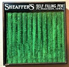 Rare Antique Wood Fountain Pen Display Case Holds 12 Sheaffer's Self Filling Pen