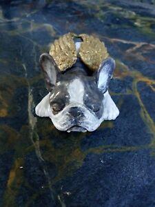 French Bulldog. Pied Sleeping Winged 10 x 5 cm