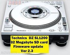 Technics SL-DZ1200 Tarjeta SD actualización de firmware 2.3