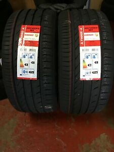 NEW 2 X 245 40 ZR19 98Y M+S THREE-A ECOWINGED NEW TYRES AMAZING WET GRIP B NEW
