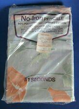 Vintage Nos Kauffman's No-Iron Percale Smokey Blue Peach Standard Pillow Cases