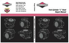 """Twin Cylinder """"L"""" Head Briggs & Stratton No.271172 Factory Service Manual CD"""