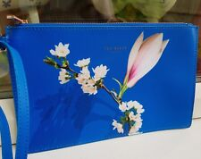 Ted Baker Blue Harmony Zipped Clutch Bag FAB NEW