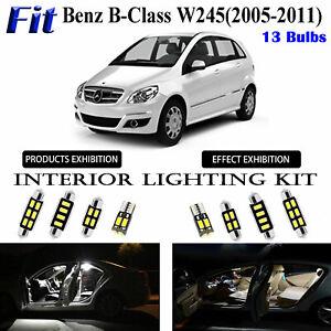13pcs Xenon White LED Interior Light Kit For Benz B-Class W245 2005-2011 Lamps