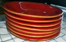 """Vietri Italy Rosso Vecchio Red Lastra Pasta Soup Bowls 8.75"""" - buy up to 7 nice!"""