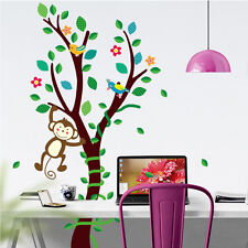 Calcomanías Pared Pegatinas Etiqueta Vinilo Arte árbol Mono habitación Niños