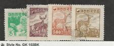 Korea, Postage Stamp, #196-199 Used, 1954 Animals, Turtle, Deer
