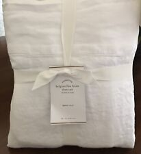 Pottery Barn BELGIAN FLAX LINEN Sheet Set, White, Size Full, New  W/$269.00 tag