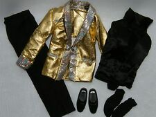 Ken Elvis Rock N' Roll Gold Lame' & Black Satin Fashion~ De-boxed ~Free U.S Ship