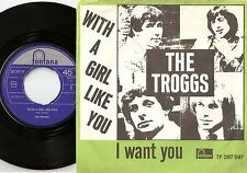 THE TROGGS WITH A GIRL LIKE YOU NORWAY DANISH 45+PS 1966 MOD FREAKBEAT PSYCH