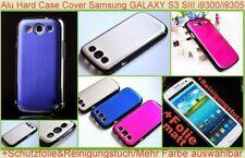 Chrom Bumper Alu Cover Hard Case Samsung GALAXY S3 I9300 Metal Schutzhülle Folie