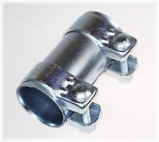 1x BayWorld Auspuff Universal Rohrverbinder 55x59,5x125mm Doppelschelle 55x125mm