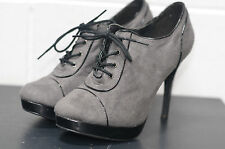 New Look Faux Suede Lace Up Shoes for Women