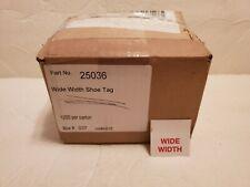 Wide Width Shoe Sneaker Store Retail Sticker Tags 1200Ct Marking Labels Display