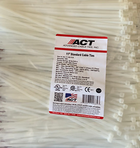 11 Nylon Cable Ties - Natural / 500 Pack : AL-11-50-9-D