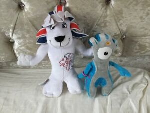 LONDON 2012 OLYMPIC GAMES TEAM GB PRIDE THE LION MASCOT PLUSH SOFT TOY WENLOCK
