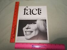 1965  Fact Magazine Bert Stern Marilyn Monroe Ralph Ginzburg Eros Magazine