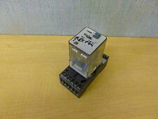 Bircher RF-3 Relay 10A 250VAC Coil 24VDC with Bircher BSF-11 base (14042)