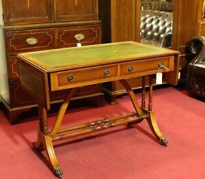 Englische Möbel Regency Pembroke Schreibtisch Klapptisch Eibe Made in England UK