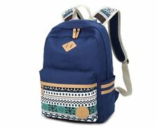 Vintage Backpack Women Laptop Bag Canvas Printing School Bags for Teenagers Girl