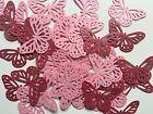 Martha Stewart Butterfly Punch Scrapbooking 50 Pcs Metallic Pink Paper Confetti