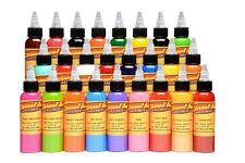 USA Authentic!Eternal Tattoo Ink 25 Color Set of 1oz/30ml Bottles,Ship Worldwide
