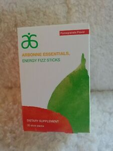 30 Arbonne Essentials Energy Fizz Sticks Pomegranate Exp 09- 2021 New Box