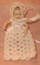 Handmade Long Gown and Bonnet for Heidi Ott Baby Doll Miniature