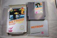 Metroid Silver (Nintendo NES) Complete in Box FAIR Circle