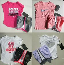 New listing Nike Girls 2T or 3T or 4T Summer Lined Dri-fit Shorts & Tops Purple Black  $175