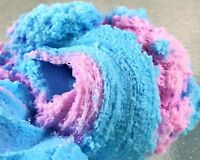 "SLIME ""Fairy Floss"" Purple Blue CLOUD Fluffy Soft Snow Glitter 4 6 8 oz Handmade"